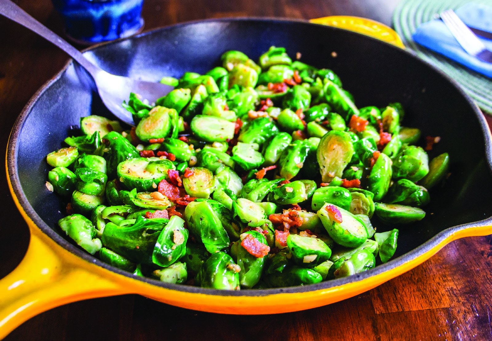 Brussels Sprouts Garlic Bacon