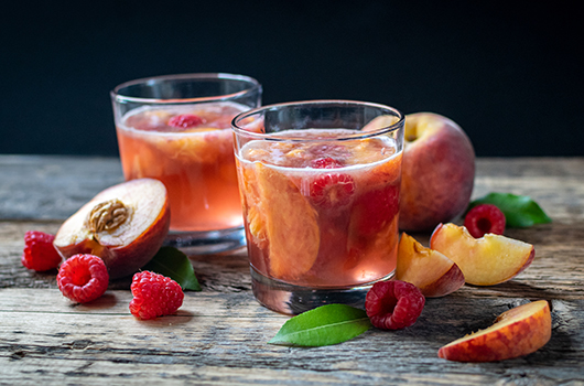 Raspberry Peach Sangria LifeSource Recipes