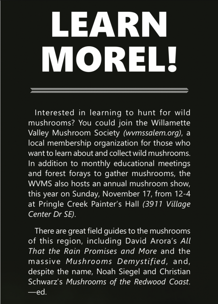 learn morrel about mushrooms