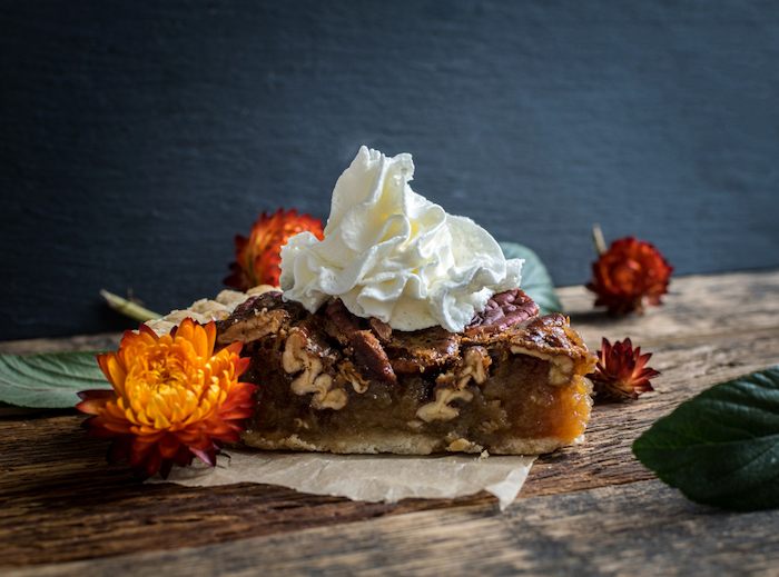 pecan pie with whipped topping