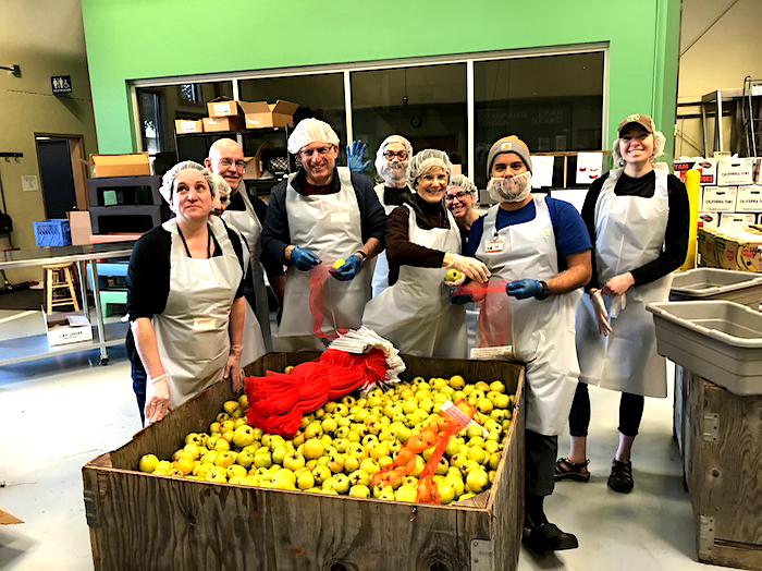 Marion Polk Food Share Volunteer December 2019 apples