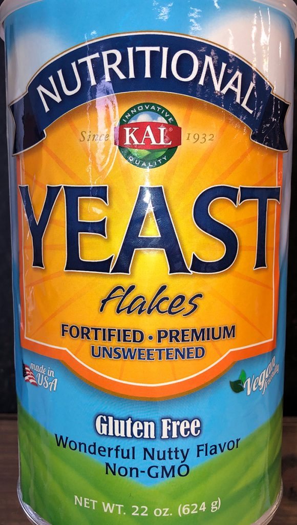 Nutritional Yeast in a Cylindrical Package