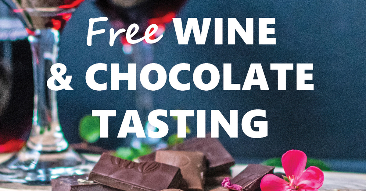 Free Wine & Chocolate Tasting at LifeSource