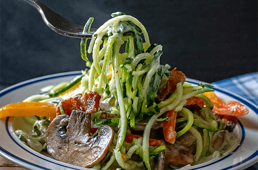 Zucchini Noodles With Cashew Cream Sauce