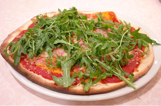 Arugula on pizza