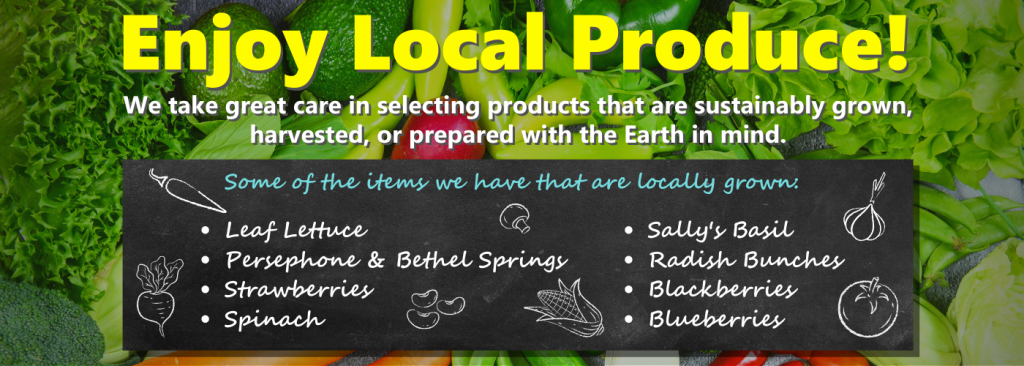 Enjoy Local Produce Homepage Banner