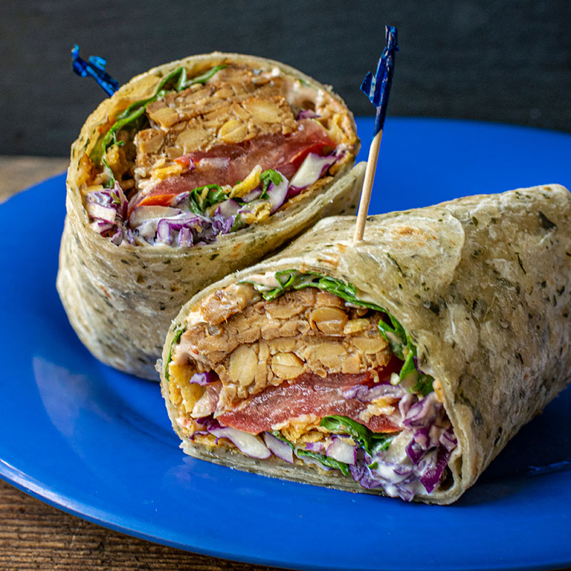 Deli Sandwich Vegan Taco Wrap