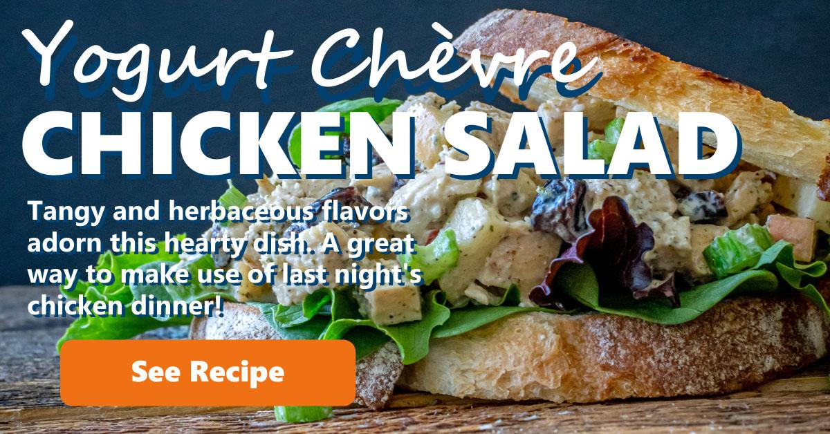 Yogurt Chevre Chicken Salad