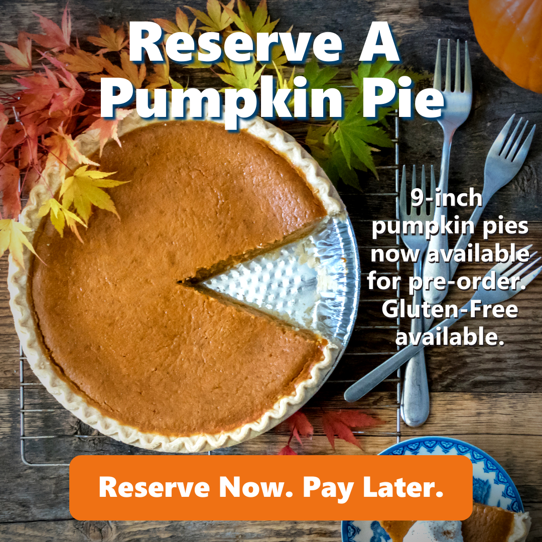 reserve pumpkin pie