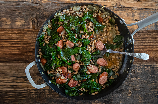 Recipe | Black Eyed Peas and Greens