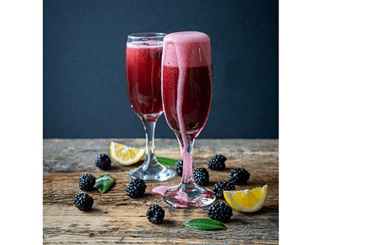 Blackberry Mimosas