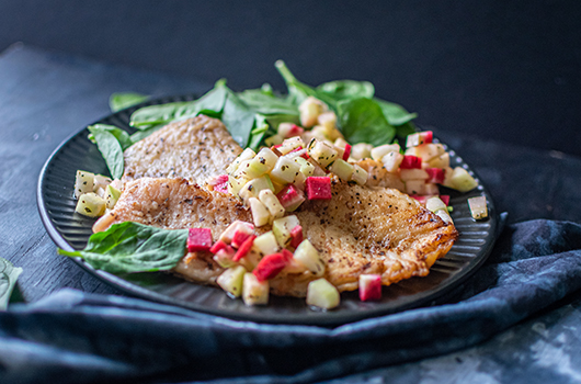 Rockfish with Cucumber Radish Relish