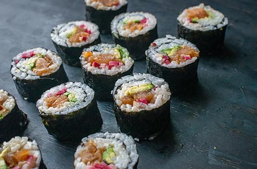 Teriyaki Salmon Sushi Rolls