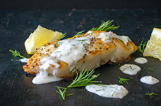 Cod With Dill Sauce