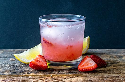 Strawberry Rhubarb Cocktail