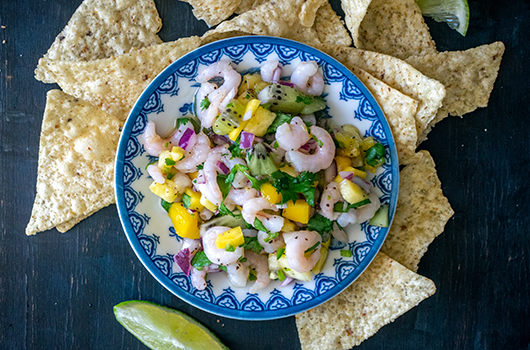 Tropical Salad Shrimp Ceviche