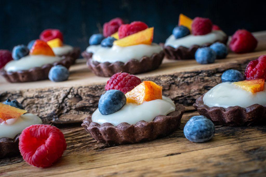 Vegan Vanilla Crème Tartlets