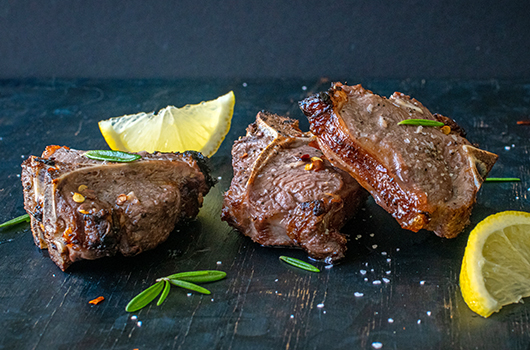Red Wine & Rosemary Goat Chops