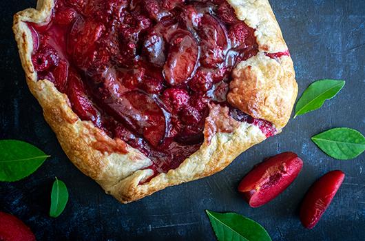 Raspberry Plum Galette