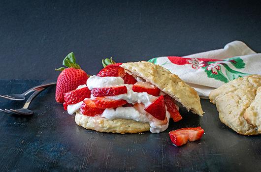 Vegan Strawberry Shortcake with Whipped Cream